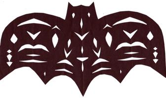 Cut Paper Bat
