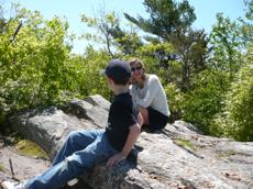Atop The Big Rock, Weetamoo Woods - kid o info