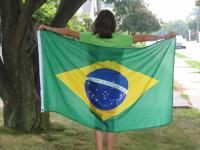 Brazil Flag on kid o info