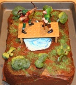 Robin Hood and Little John cake on kid o info