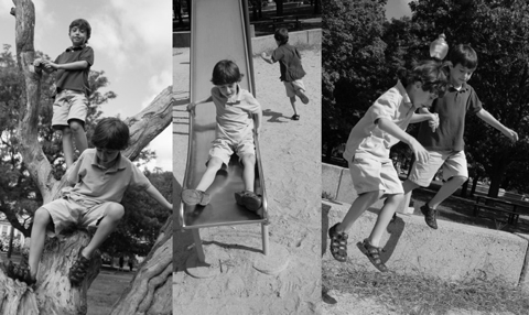 Boys at the Park by Krzytyna Harber Photography