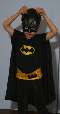 Batman costume on kid o info
