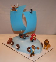 Blue Pirate Cake on Kidoinfo
