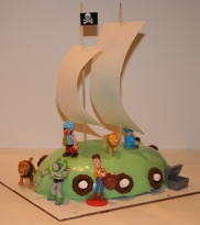 Green Pirate Cake on kid o info