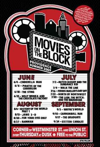 Free Movies on the Block: 2009 Schedule