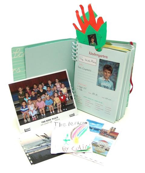 School Years Album: A Keepsake for Gathering Mementos