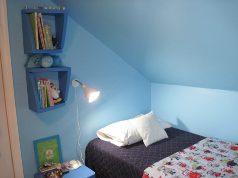bedroom makeover Blue Side