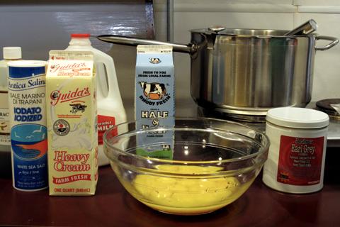 Kafe Lila: How to Make ice cream ingredients