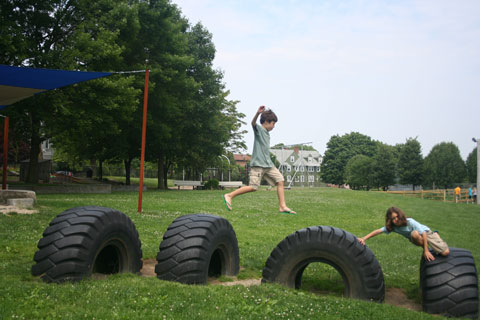 Tire Hopping at Brown Street Park