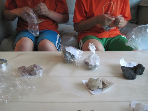 Bagging Rocks and Minerals