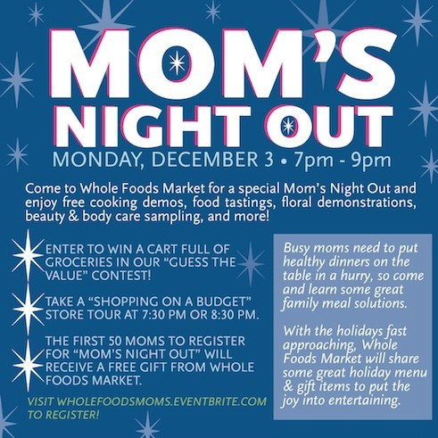Mom's Night Out with Whole Foods Market, Kidoinfo and Rhody Mamas