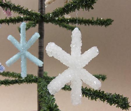 Borax Crystal Snowflakes