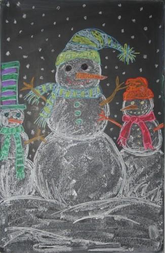 Chalkboard-Snowman