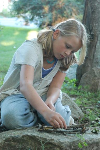 Girl with twigs-Susan Sancomb