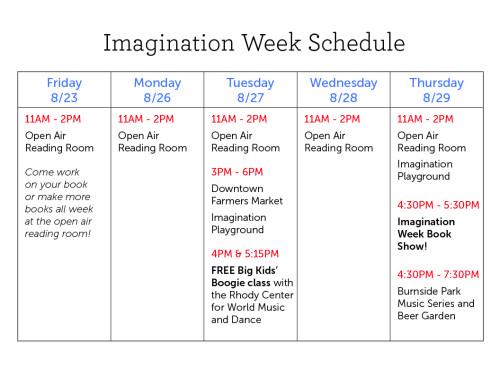 Imagination Week Schedule