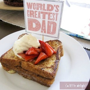 Father's Day French Toast from a little delightful_thumb