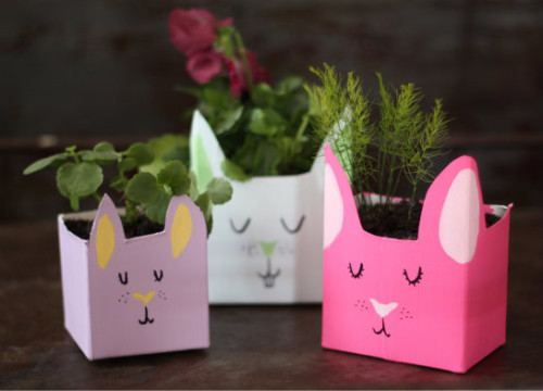 DIY Milk Carton Planters