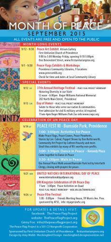 2015 Peace Postcard schedule