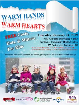 Warm hands , Warm hearts! @ Providence Community Health Centers