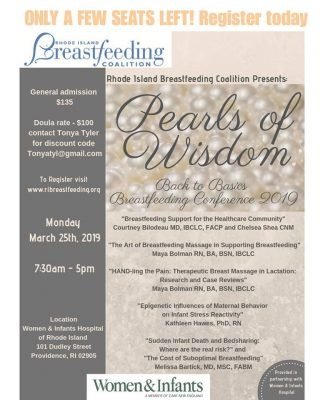 Pearls of Wisdom Breastfeeding Conference 2019 @ Woman and Infants Hospital of RI