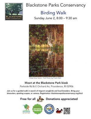 Birding Walk @ Blackstone Park kiosk
