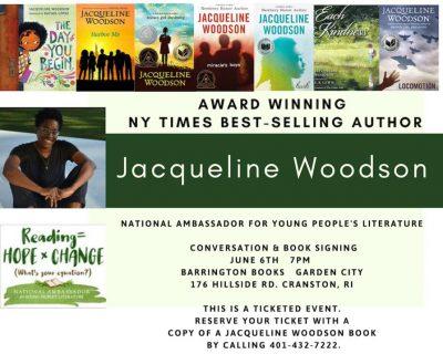 NY Times Best Selling Author Jacqueline Woodson Talk & Book Signing @ Barrington Books Garden City