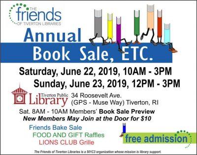 The 2019 Friends Annual Book Sale, ETC @ Tiverton Public Library