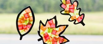 leaf sun-catcher craft