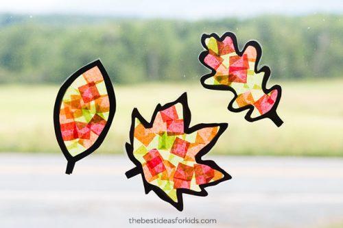 leaf sun-catcher craft