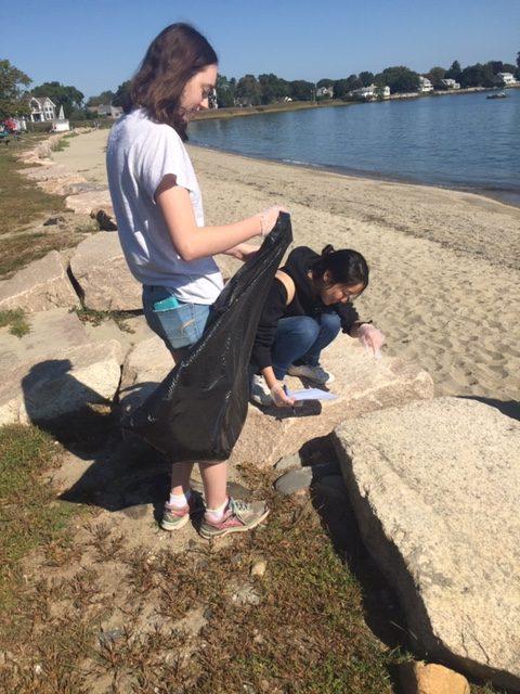 teens at beach cleanup