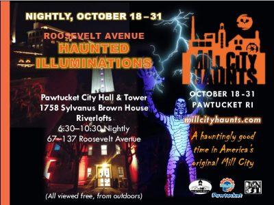 Roosevelt Avenue Haunted Illuminations @ Old Slater Mill & City Hall