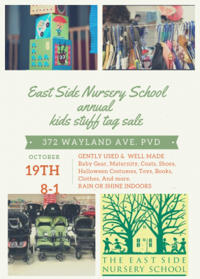East Side Nursery Annual 'Kids Stuff' Tag Sale @ East Side Nursery School