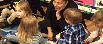 RI Education Commissioner reads to children