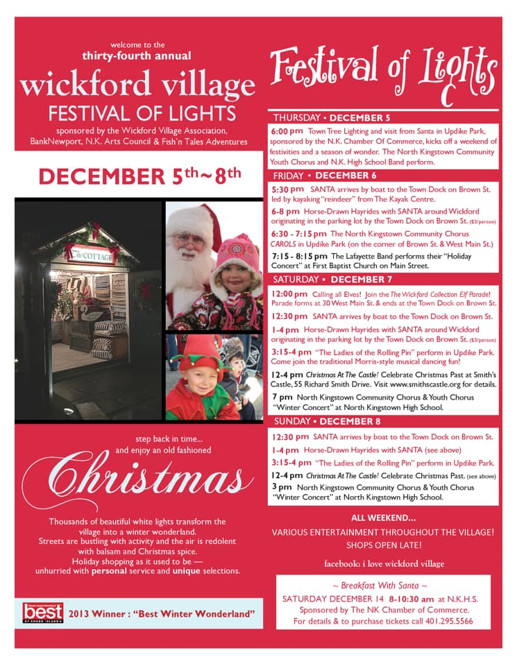 34th Annual Wickford Festival of Lights @ Wickford Village