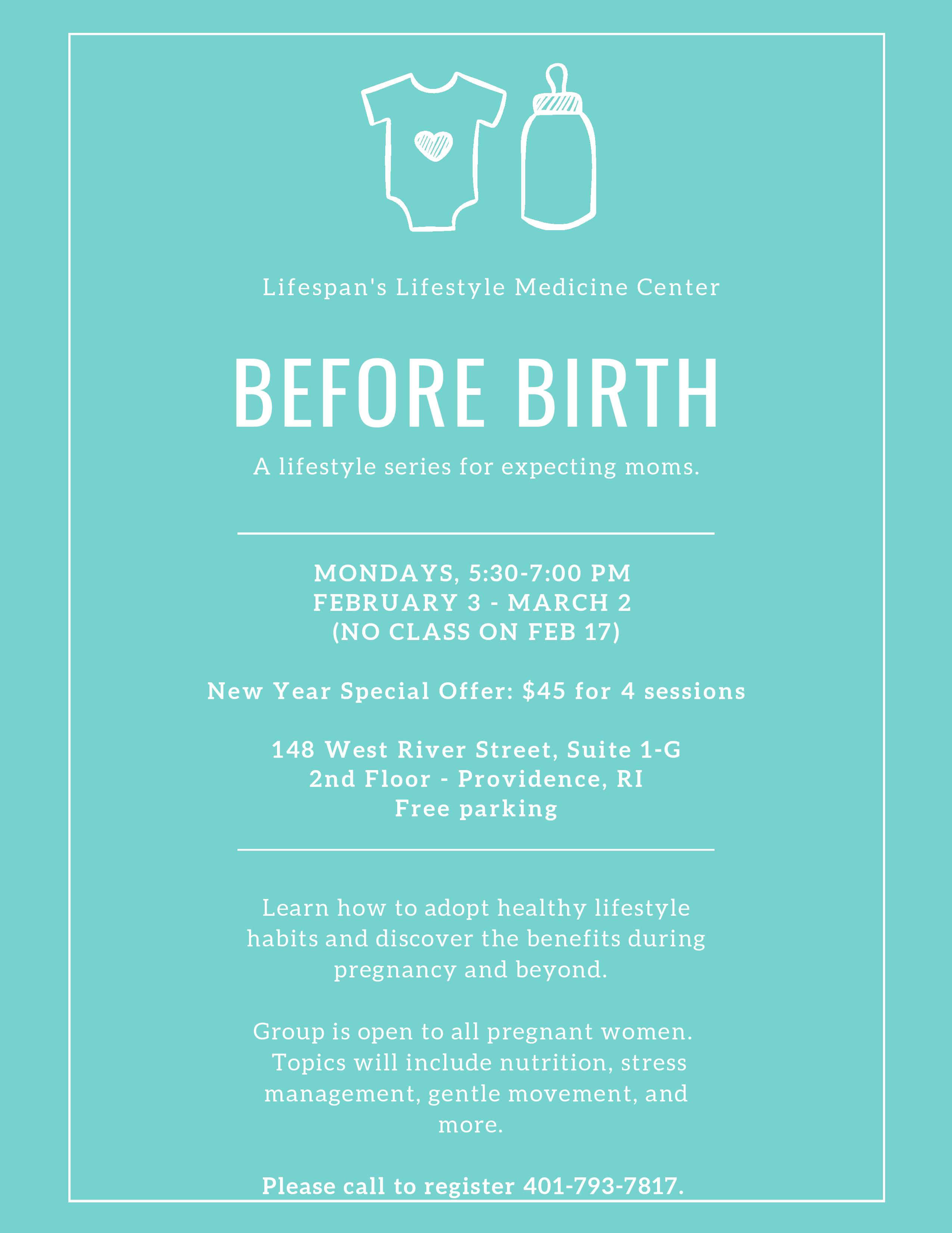 Before Birth lifestyle group