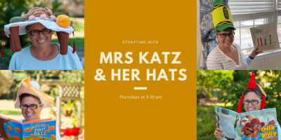 Storytime with Mrs. Katz and her Hats @ Virtual Event